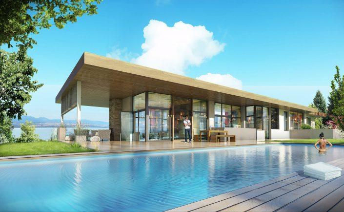 Villa piscine 3D | Publier