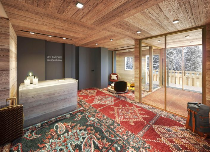 Hall Hotel 3D | Courchevel
