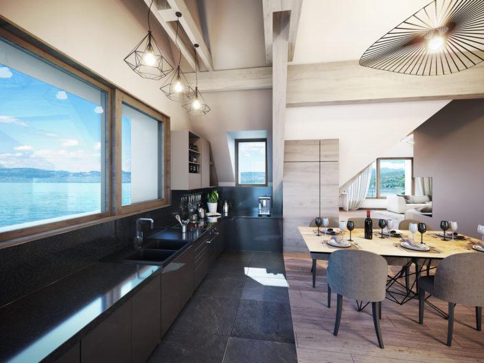 Cuisine Lac Léman 3D | Amphion Les Bains