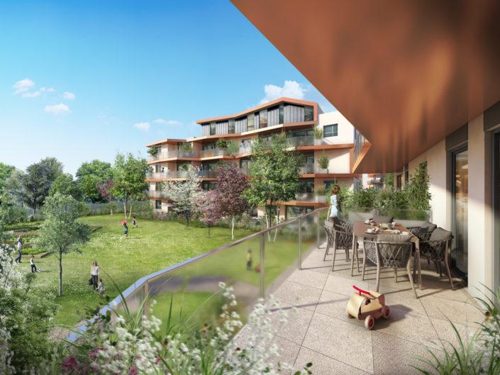 Balcon Les 5 jardins | Decines
