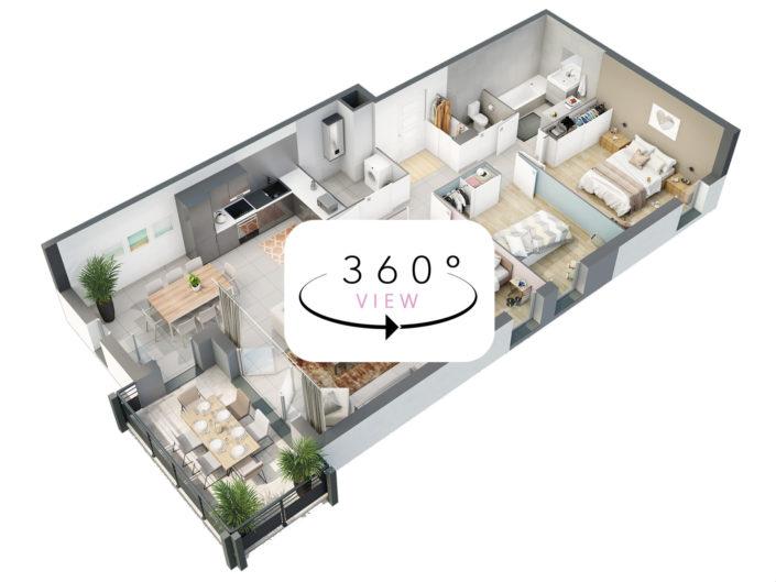 Tour 3D à 360° | Appart t4