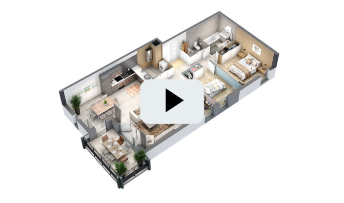 Animation 3D à 360° | Appartement T4