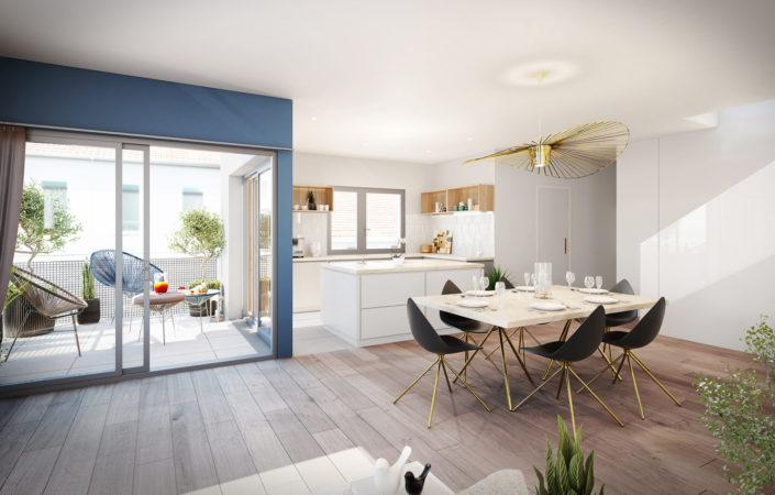 Cuisine 3D | Appartement Lyon