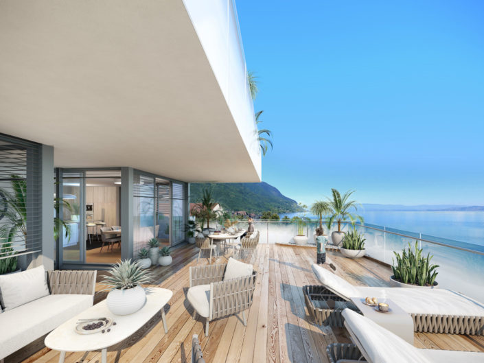 Terrasse luxe 3D | lac Leman St Gingolph