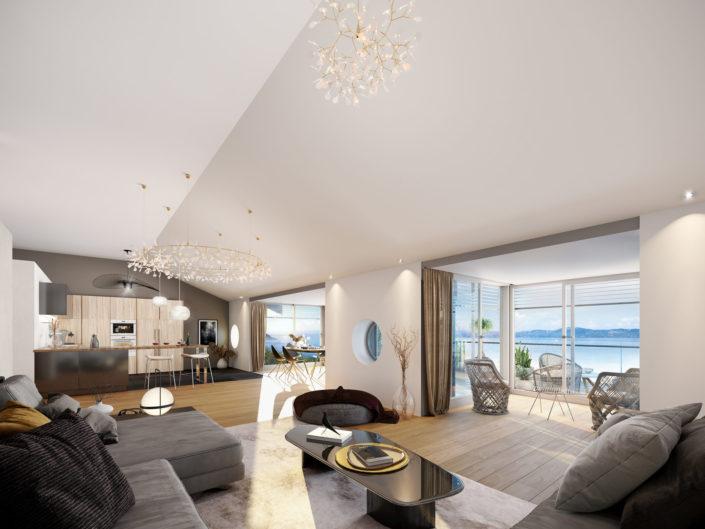Salon Luxe 3D | Lac Leman St Gingolph