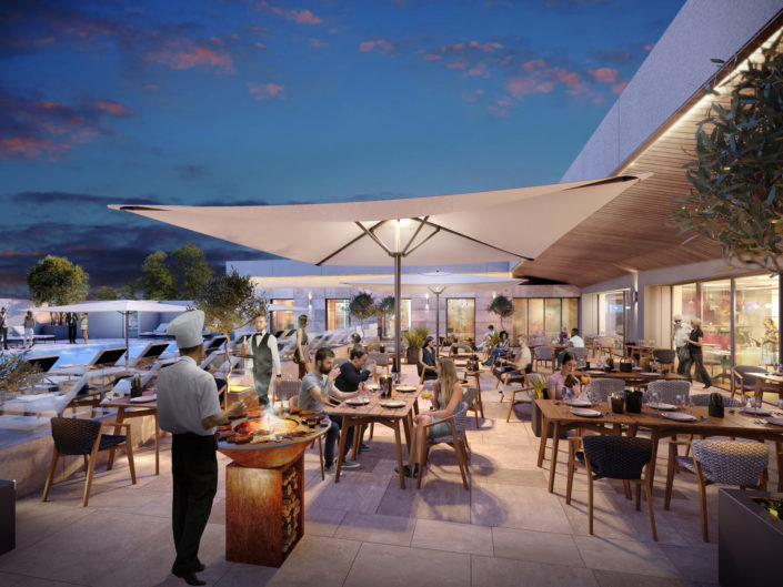 Terrasse 3D | Hotel de nuit