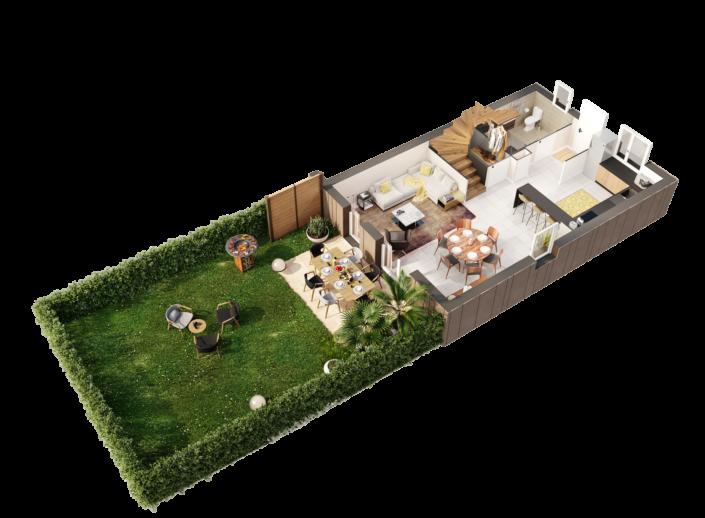 Plan 3D   Appartement T4