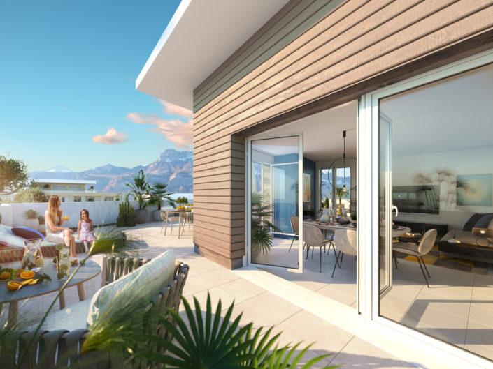 Terrasse 3D | Kalysto, Villard Bonnot