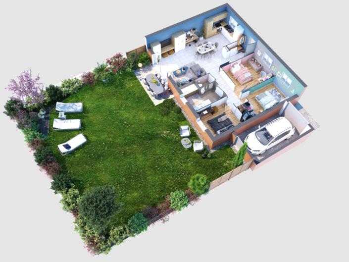Plan 3D Appartement  Lagnieu