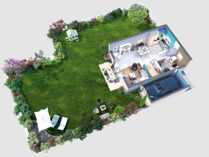 Plan 3D | Villa, Lagnieu